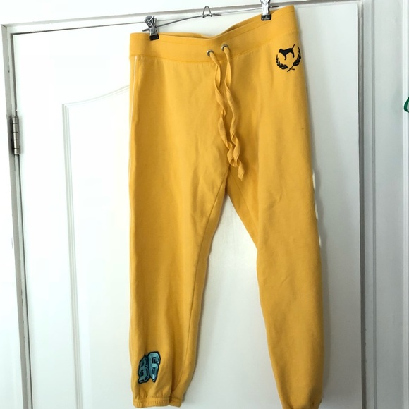 0535ec810f796 SALE TODAY ONLY Yellow VS PINK capri sweatpants